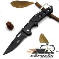KNIFEZER Pisau Saku Lipat Mini Serbaguna Portable Knife Survival - W46