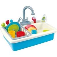 Mainan Wastafel Cuci Piring Baterai - Kitchen Set Sink Wash Up Anak