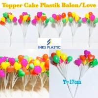 topper cake plastik / balon