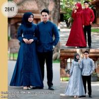 Baju Couple Gamis Broklat Kode 2847
