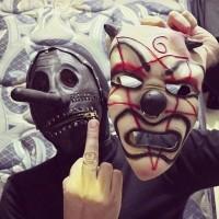 Topeng Chris Fehn Hitam Slipknot Berkualitas