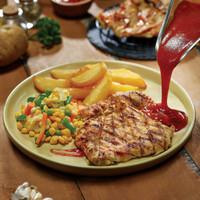 Daging Ayam Dada/Paha/Steak Ayam Rasa - ABUBA Steak Grill Chicken