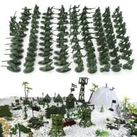 JOY.ODE 100pcs Plastic Toy Soldiers Army Men Tan Figures 12 Poses