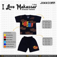 T-SHIRT (KAOS) KIDS I LOVE MAKASSAR JOKKA KIDS CLOTHING