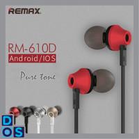 REMAX RM 610D MOST POPULAR EARPHONE/HEADSET/HANDSFREE 100% ORIGINAL