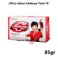 (3Pcs) Sabun Lifebuoy Total 10 Kemasan 85gr