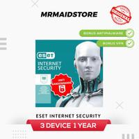 Antivirus ESET Internet Security 11 Anti Virus 3 PC 1 Tahun