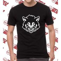 Kaos Baju Tshirt desain Fox WOlf Serigala Mans Shirt