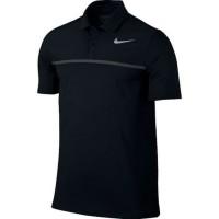kaos polo pria baju kerah nike black tennis sport