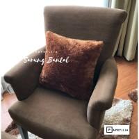Sarung Bantal Bulu / Sarung Sofa / Sarung Kursi Tamu ( Coklat Muda )