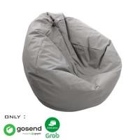 Beanbag Oval size L (Include sterofoam) - Bean Bag - Warna Abu