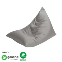 Beanbag Triangle size L (Include sterofoam) - Bean Bag - Warna Abu