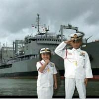 kostum karnaval baju tentara angkatan laut anak 3-12thn
