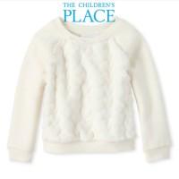 Baju Sweter Place Anak Perempuan Cewek Putih Bulu - Sweatshirt