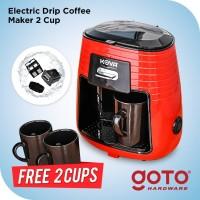 Kova Mesin Kopi Listrik Drip Coffee Maker with Ceramic Cups