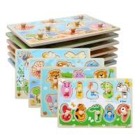 Puzzle Pentolan/ Puzzle kayu knob/Mainan anak edukasi montessori