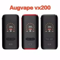 READY AUTHENTIC VX200 TC BOX MOD AUGVAPE VX 200 W Kit BLACK RED