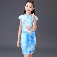 Unik Dress Frozen Cheongsam Berkualitas