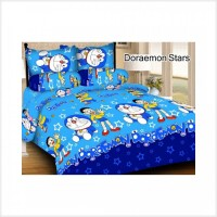 Promoo SAYANG ANAK Set Sprei Bedcover Doraemon Stars Pink Tsum2 Singgi