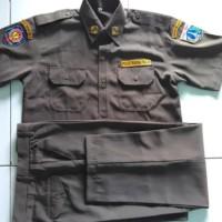 Baju Seragam Pdh Satpol Pp Lengkap Dengan Badge Rinooktarial55