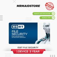 Antivirus ESET File Security - Windows Server 1 PC 3 Tahun