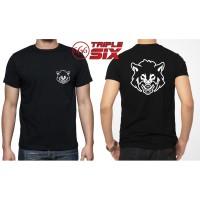 Kaos Tshirt Baju distro Desain Fox Wolf Serigala Man Full