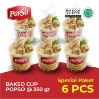 Bakso Cup PopSo Paket isi 6 cup @ 350 gr x 6 cup
