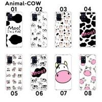 Custom Casing Softcase Anticrack Samsung A51 Motif Sapi Cow Lucu cewek