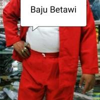 Baju Pangsi Adat Betawi Setelan Jawara Dewasa Pakaian Daerah