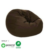 Beanbag Oval size L (Include sterofoam) - Bean Bag - Warna Coklat