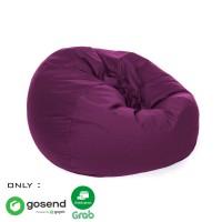 Beanbag Oval size L (Include sterofoam) - Bean Bag - Warna Ungu
