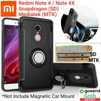 Xiaomi Redmi Note 4 / 4X Armor Hard Soft Carbon Case with Stand Ring