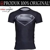 Baju Ketat MMA,Fitness Rash Guard Compression Short Sleeve Superman