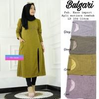 baju atasan bulgari tunik kaos muslim wanita simple santai trendy unik