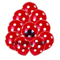 Balon Latex Polkadot Merah