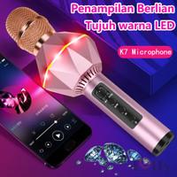 K7 Wireless Microphone Karaoke Mic Bluetooth Mikrofon berlian - Rosegold