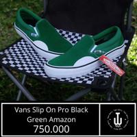 Sepatu Vans Original | Vans Slip On Pro Black Green |Sepatu Vans Murah