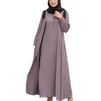 Baju Gamis Syari Wanita Terbaru Shiya Dress Jumbo / Gamis Termurah - Darkgrey