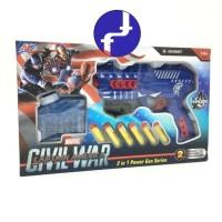 mainan anak Tembakan marvel Civil war captain america avengers