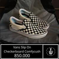 Vans Original   Vans Slip On Checkerboard Comfycush  Sepatu Vans Murah