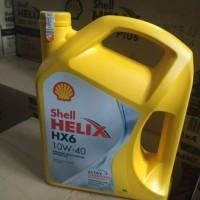 Oli Shell Helix HX6 Galon 4lt Sae 10w-40 ASLI & Segel