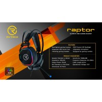 Headset Gaming Vibration. 7.1 Surrounded. Rvtech type Raptor.