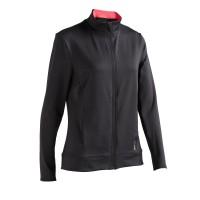 Domyos Jaket Sweater Fitness Gym Wanita FJA100 Hitam Decathlon 8560327