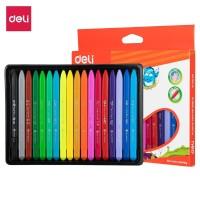 Deli EC20010 School Crayon/Krayon - Plastic Crayon Triangle 18 Color
