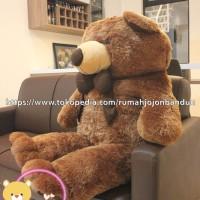 TERMURAH BONEKA TEDDY BEAR COKLAT JUMBO 2 METER