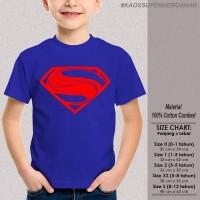 Kaos Anak Baju Superhero SUPERMAN MAN OF STEEL 1-12 th