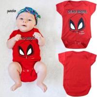 Baby Summer Cartoon Spiderman Dead Drool Short Sleeve Romper