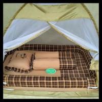 kasur bayi bess kelambu tenda warna tua - Merah EKSLUSIF
