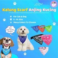 Kalung scarf syal bandana pet collar lucu hewan anjing kucing