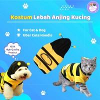 Baju kaos hoodie lucu Hewan Anjing / Kucing motif Lebah Kuning